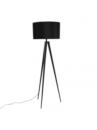 Tripod Vloerlamp Zwart