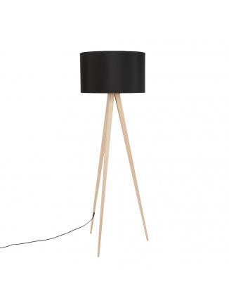 Tripod Vloerlamp Wood Zwart