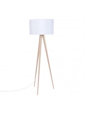 Tripod Vloerlamp Wood Wit